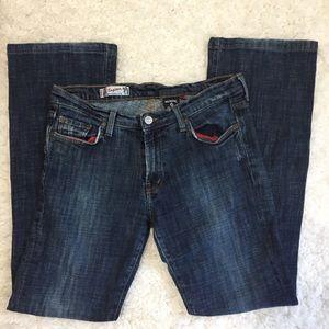 Red Engine Vintage Denim Flare Jeans